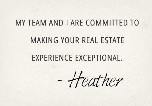 My team and I are committed to making your real estate experiance exceptional.